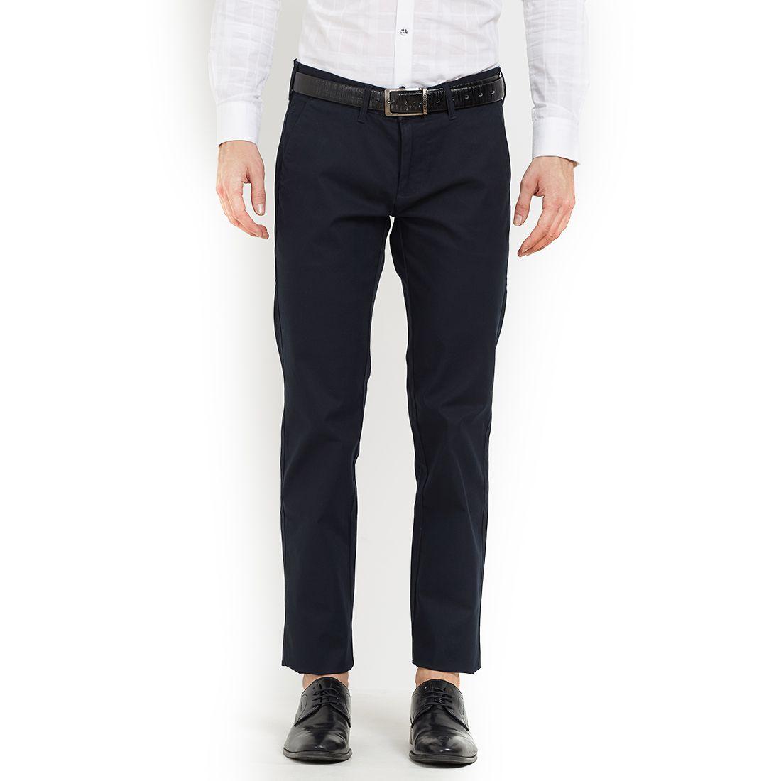 EASIES by KILLER Blue Regular -Fit Flat Trousers