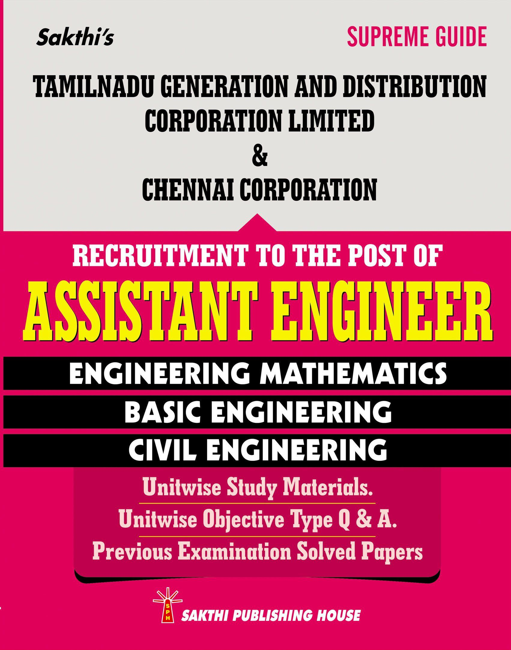 Tangedco & Corporation of Chennai - Assistant Engineer (Civil) in English  [Paperback] [Jan 01, 2016]