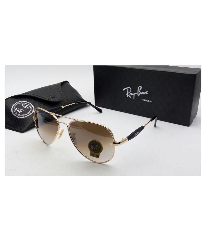 Ray Ban Avaitor Brown Aviator Sunglasses ( brown 3517 )
