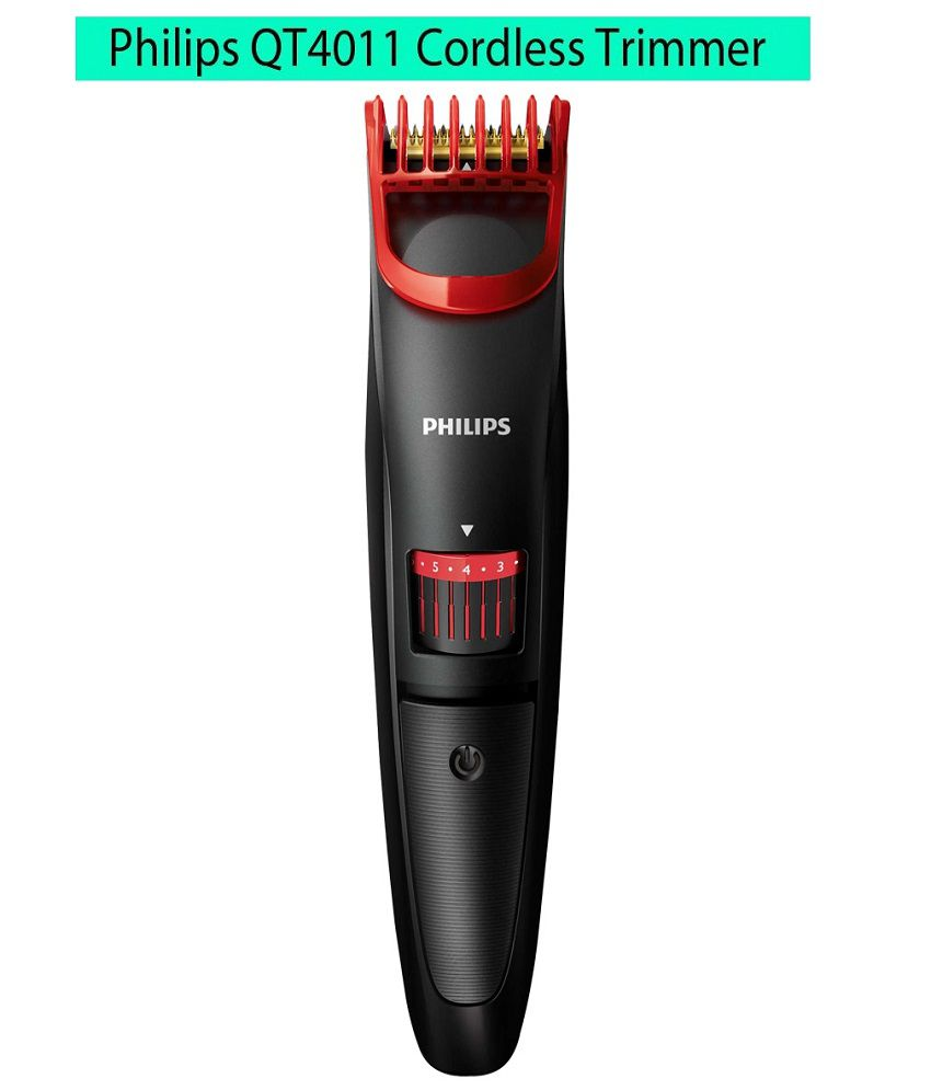 Philips QT4011/15 Pro Beard Trimmer Red & Black