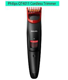 Philips QT4011/15 Pro Beard Trimmer Red & Black