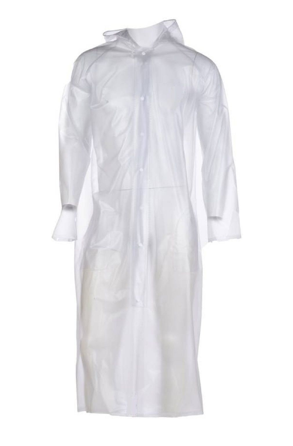 Hani Fashion PVC Long Raincoat - White