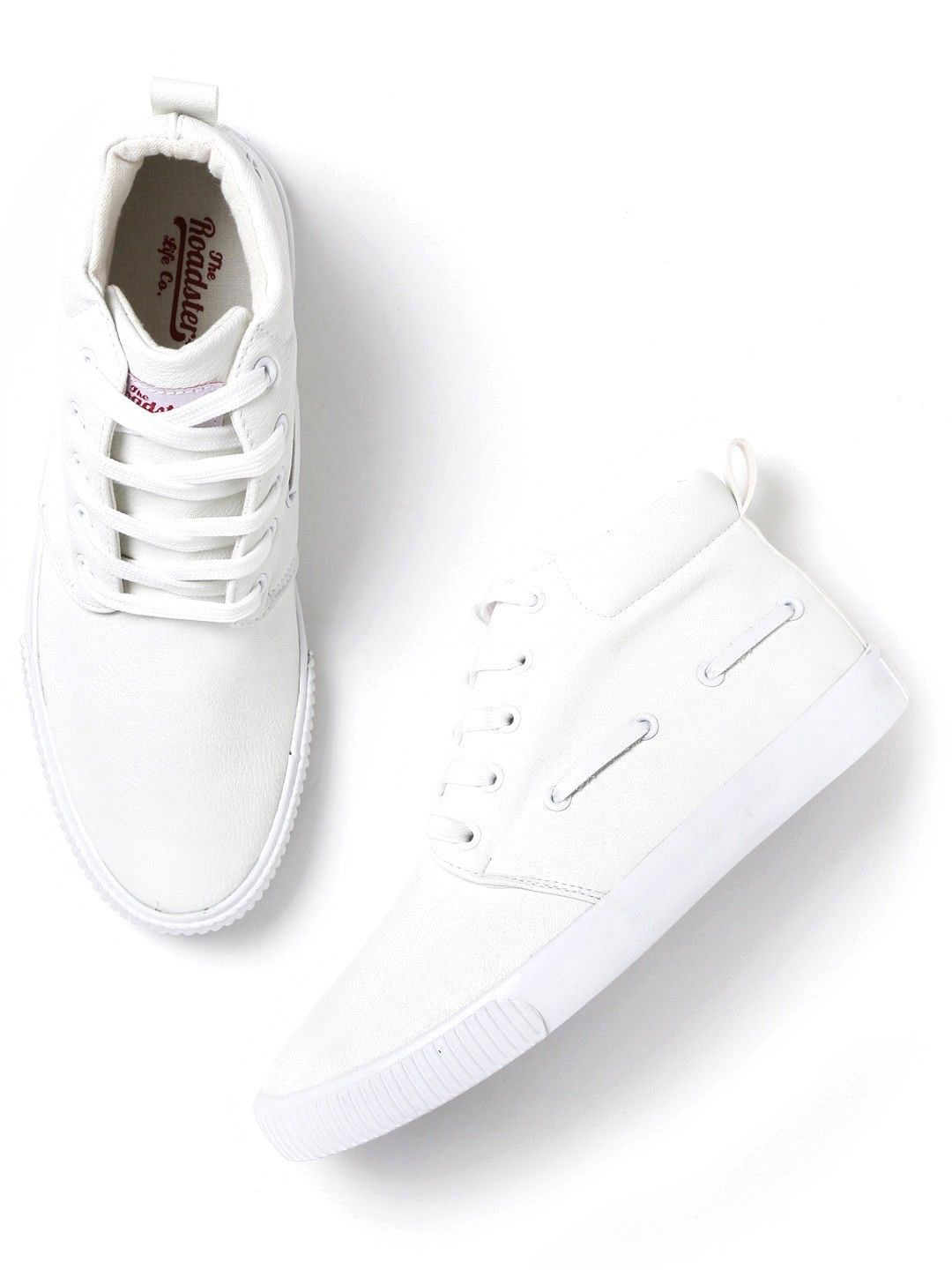 0d9969aec08 Roadster Men Mid-Top Sneakers White Casual Shoes - Buy Roadster Men Mid-Top  Sneakers White Casual Shoes Online at Best Prices in India on Snapdeal