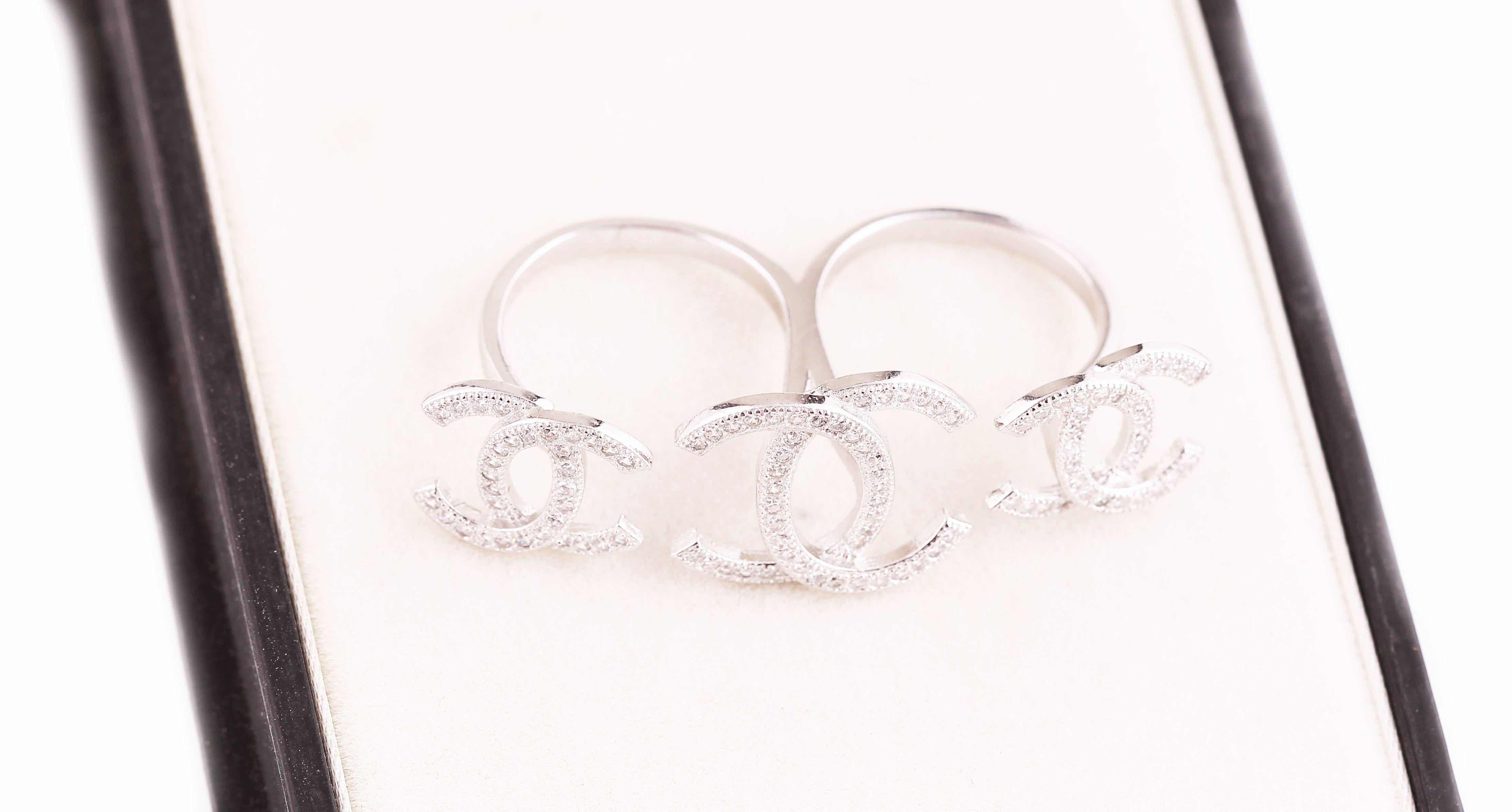 Shree Ji Jewellers 92.5 Silver Cubic zirconia Couple Bands