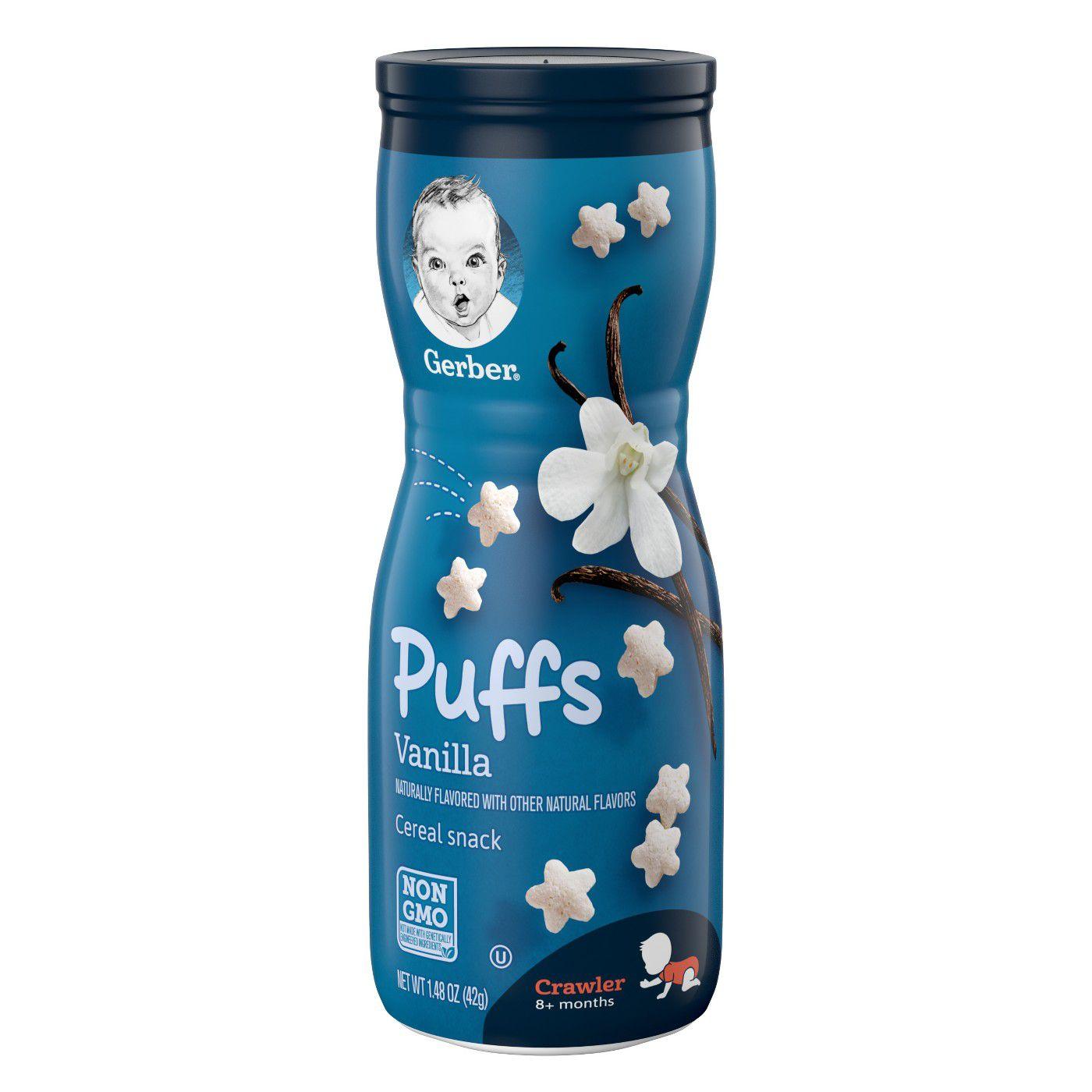 Gerber Puffs Vanilla Snack Foods for 6 Months + ( 42 gm )