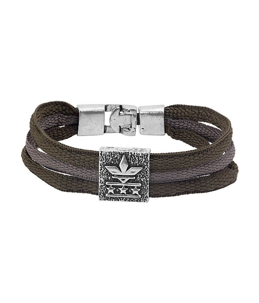 Dare Classy Oxidized Silver Plated Bracelet from Squad Collection for men