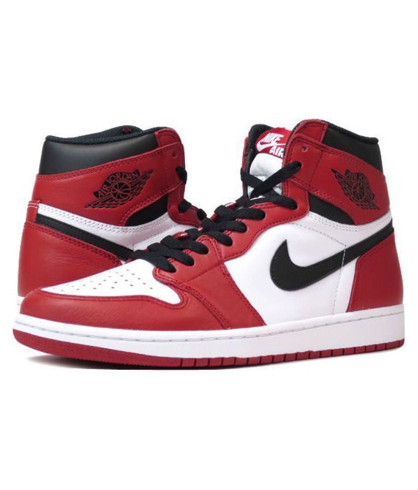 100% genuine separation shoes buy online Nike JORDAN 1 RETRO HIGH Red Basketball Shoes