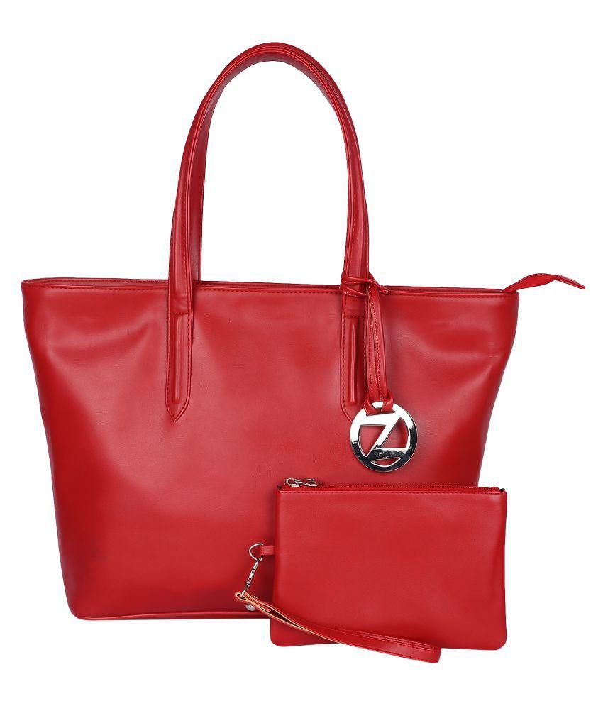 OSaiZ Red P.U. Tote Bag