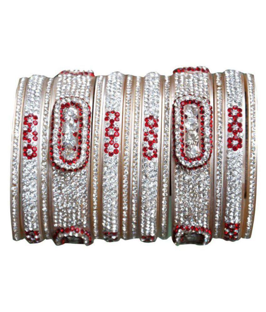 Top Quality Stone Red Mahroon golden White Designer Wedding  Engagement Punjabi Suhag Chuda Plastic Bangle Set For Women Designed By VIVAH BRIDAL CHURA