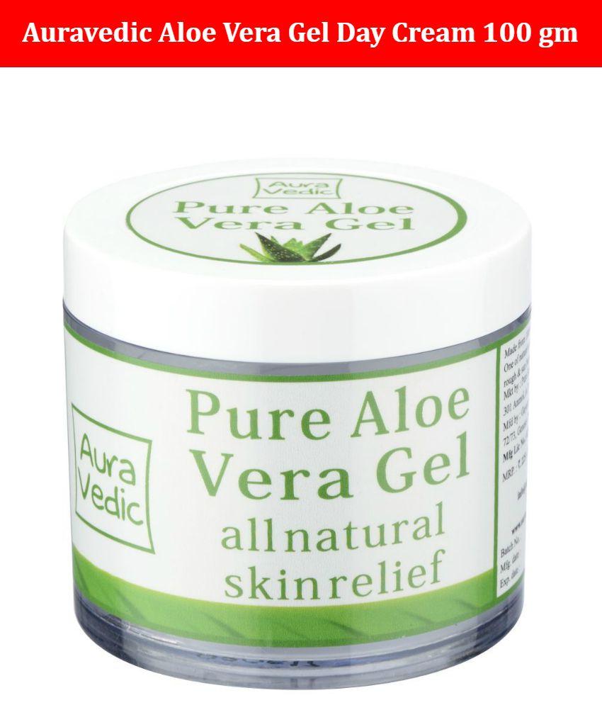 Auravedic Pure Aloe Vera Gel (100gm) Day Cream 100 gm