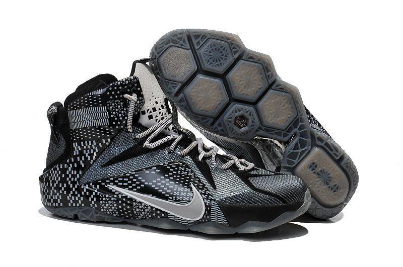 online retailer 6c9c8 5f7c1 Nike Lebron 12 BHM Black Training Shoes ...