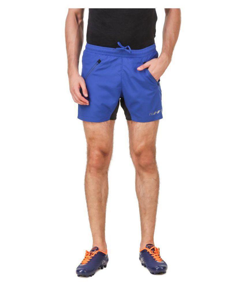 Nivia Blue Polyester Running Shorts-2311M-2