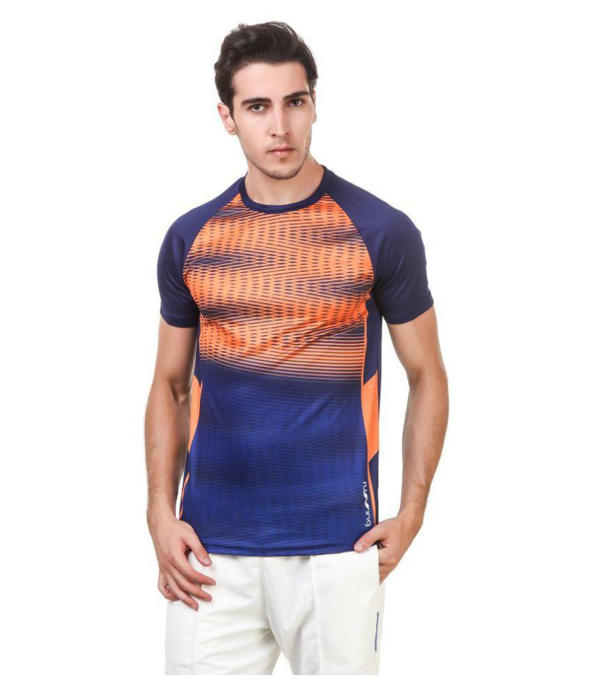 Nivia Orange Polyester T-Shirt-1866S-1