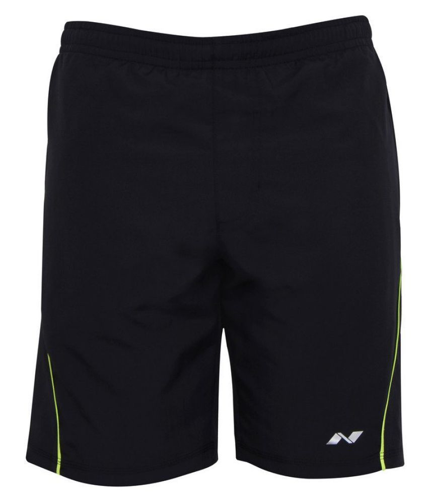 Nivia Black Polyester Running Shorts Single-2036xl2