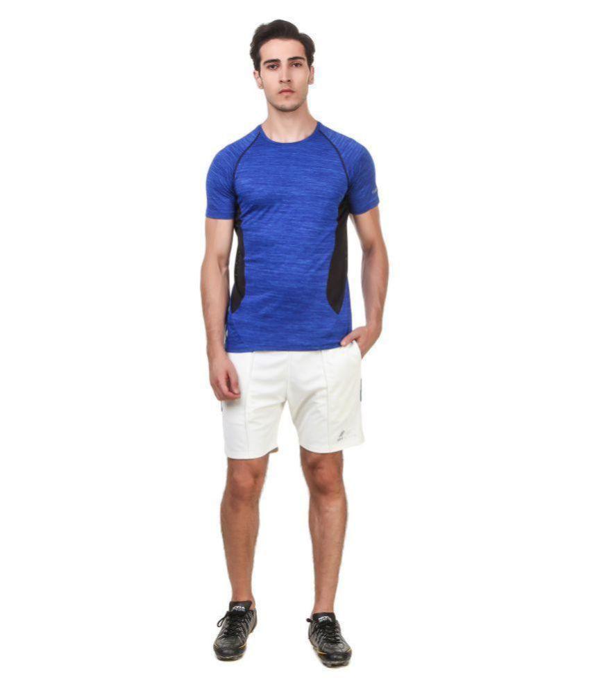Nivia Violet Polyester T-Shirt-2246S-2