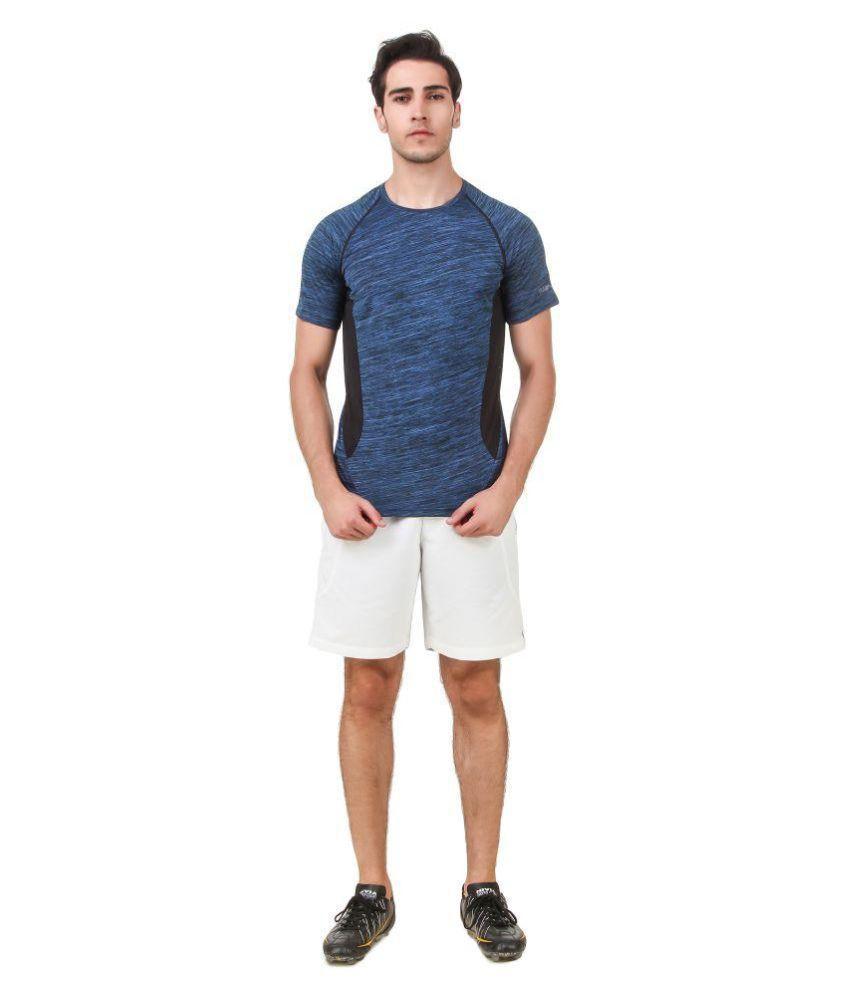 Nivia Blue Polyester T-Shirt-2246XS-1