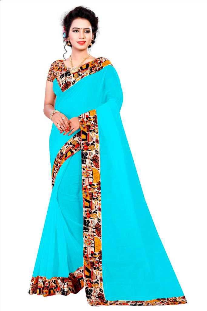 Pari Designer Multicoloured Chanderi Saree