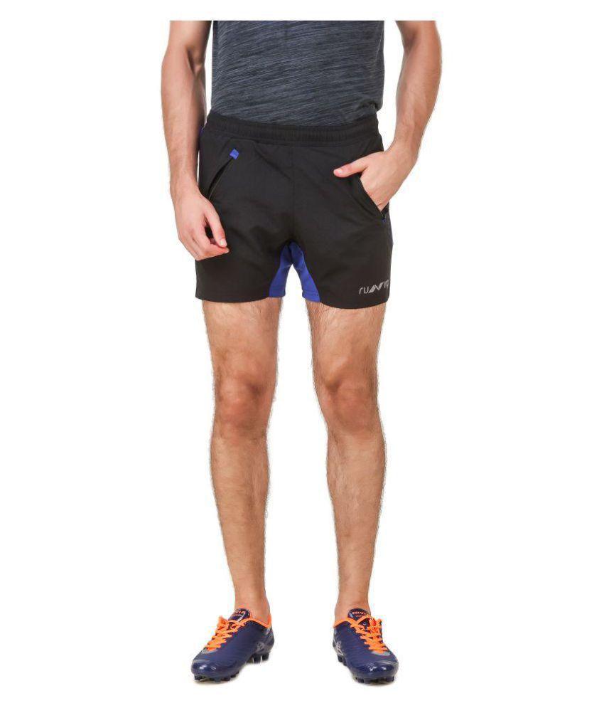 Nivia Black Polyester Fitness Shorts-2311S-3