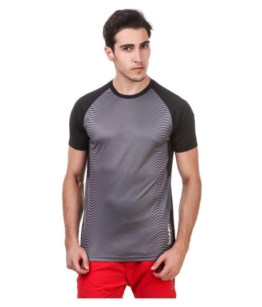 Nivia Black Polyester T-Shirt-1867S-3
