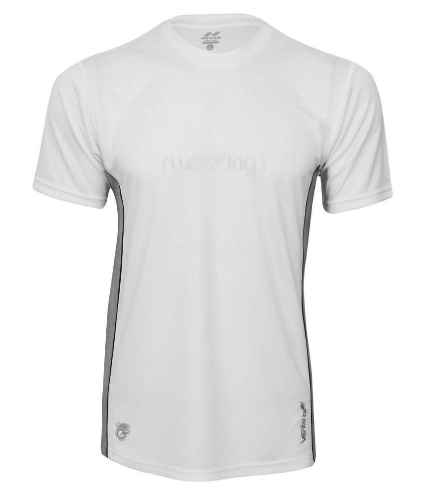 Nivia Oxy -2 Fitness Tee White-2216-xl6