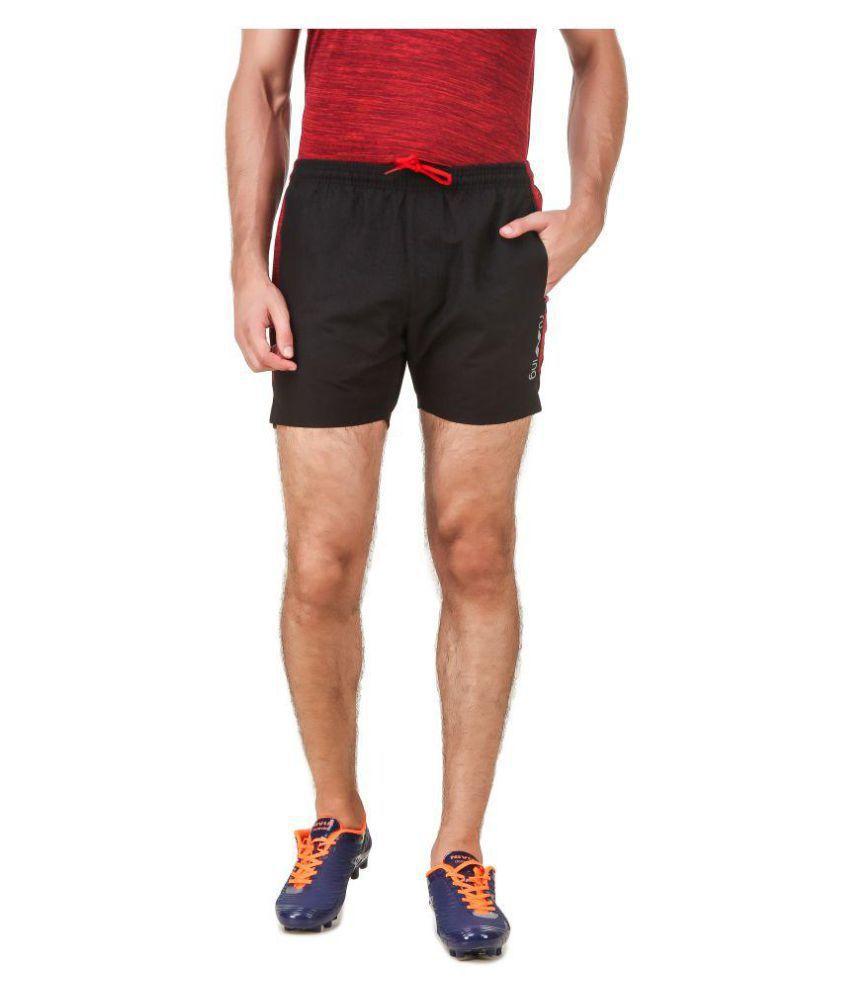 Nivia Black Polyester Fitness Shorts-2039S-1