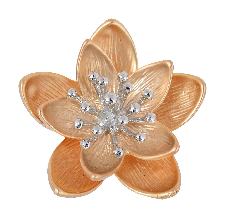 Fahshionforsure Golden Metal Brooch for Women (CBROOCH46)