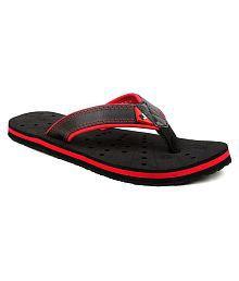 Fuel Red Thong Flip Flop