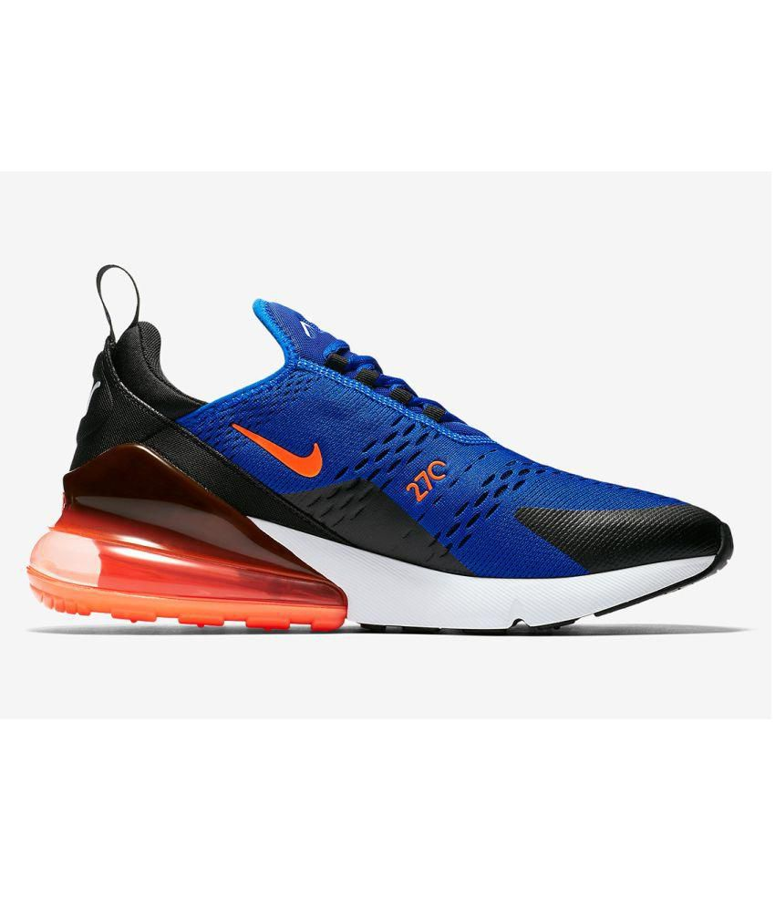 newest collection 80f32 9b845 Nike Air Max 270 Blue Running Shoes