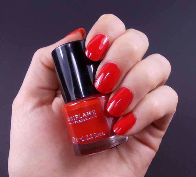 Oriflame Pure Colour Nail Polish 33072 Coral Red Matte 6 ml: Buy ...