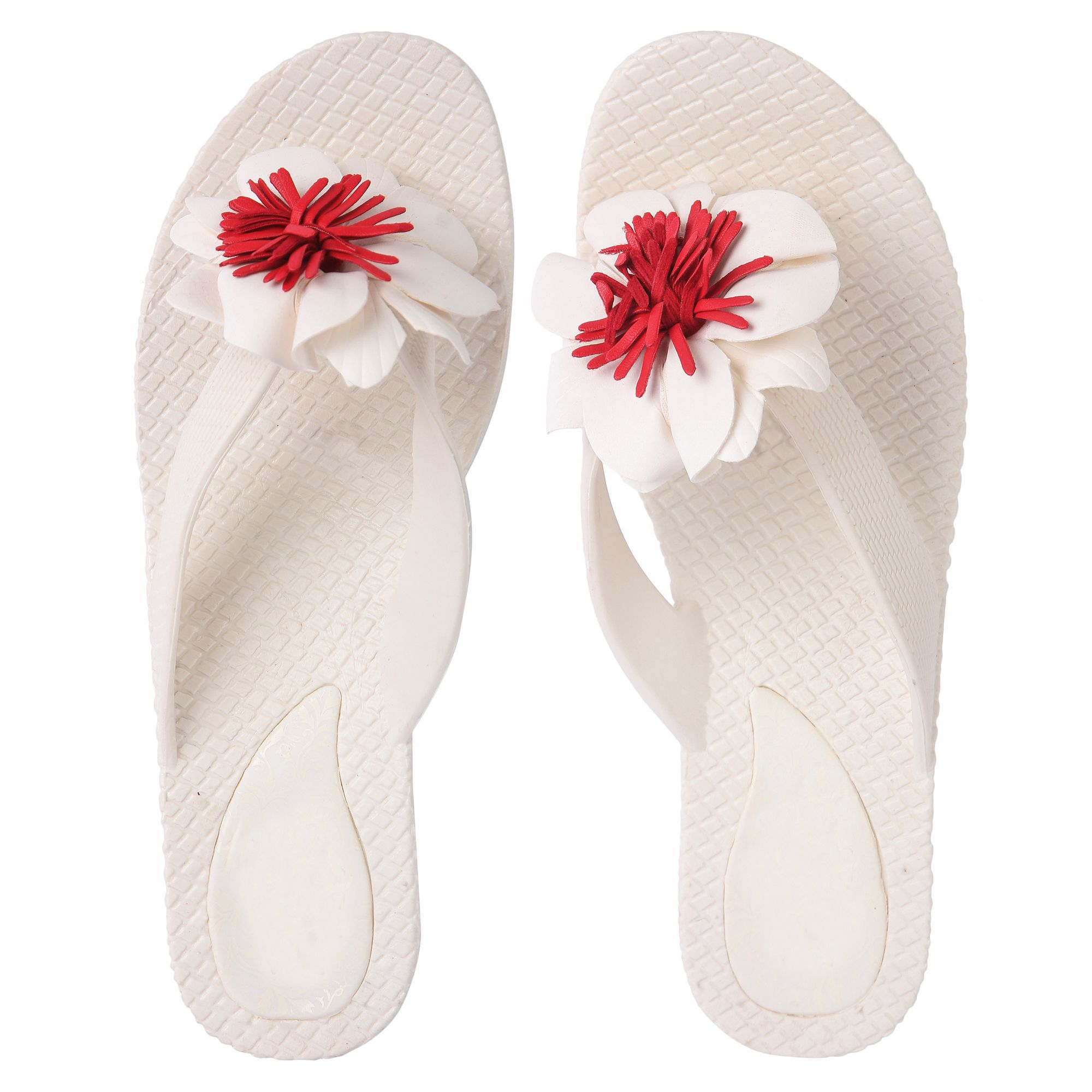 42a0cec8eaad Czar White Slippers Price in India- Buy Czar White Slippers Online at  Snapdeal