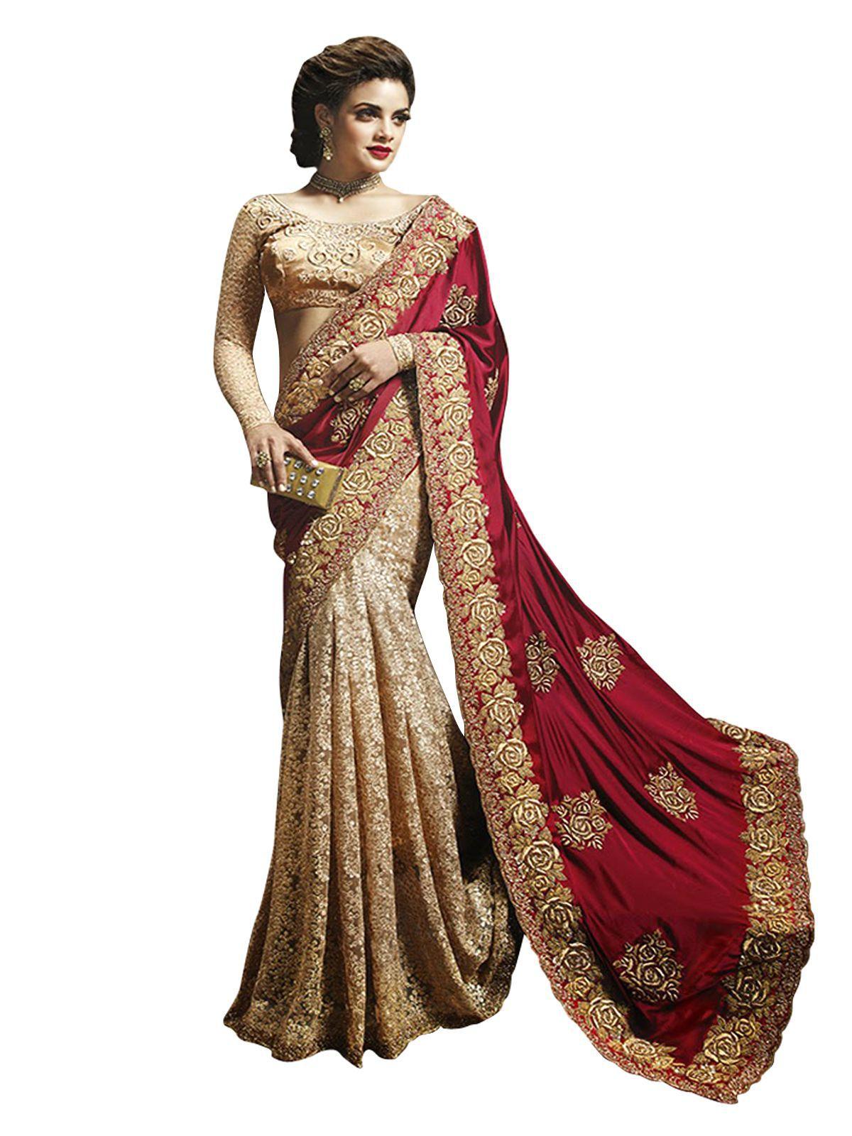 Wkart Multicoloured Chiffon Saree