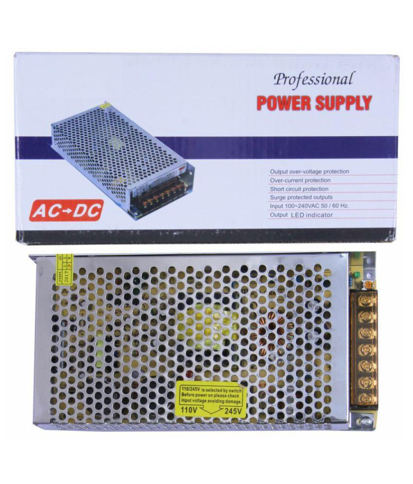 12 Volt 20 Amp 240 Watt DC SMPS Switching Mode Power Supply for CCTV & LED Strip with Metal Case / Aluminum Base + Cooling Fan