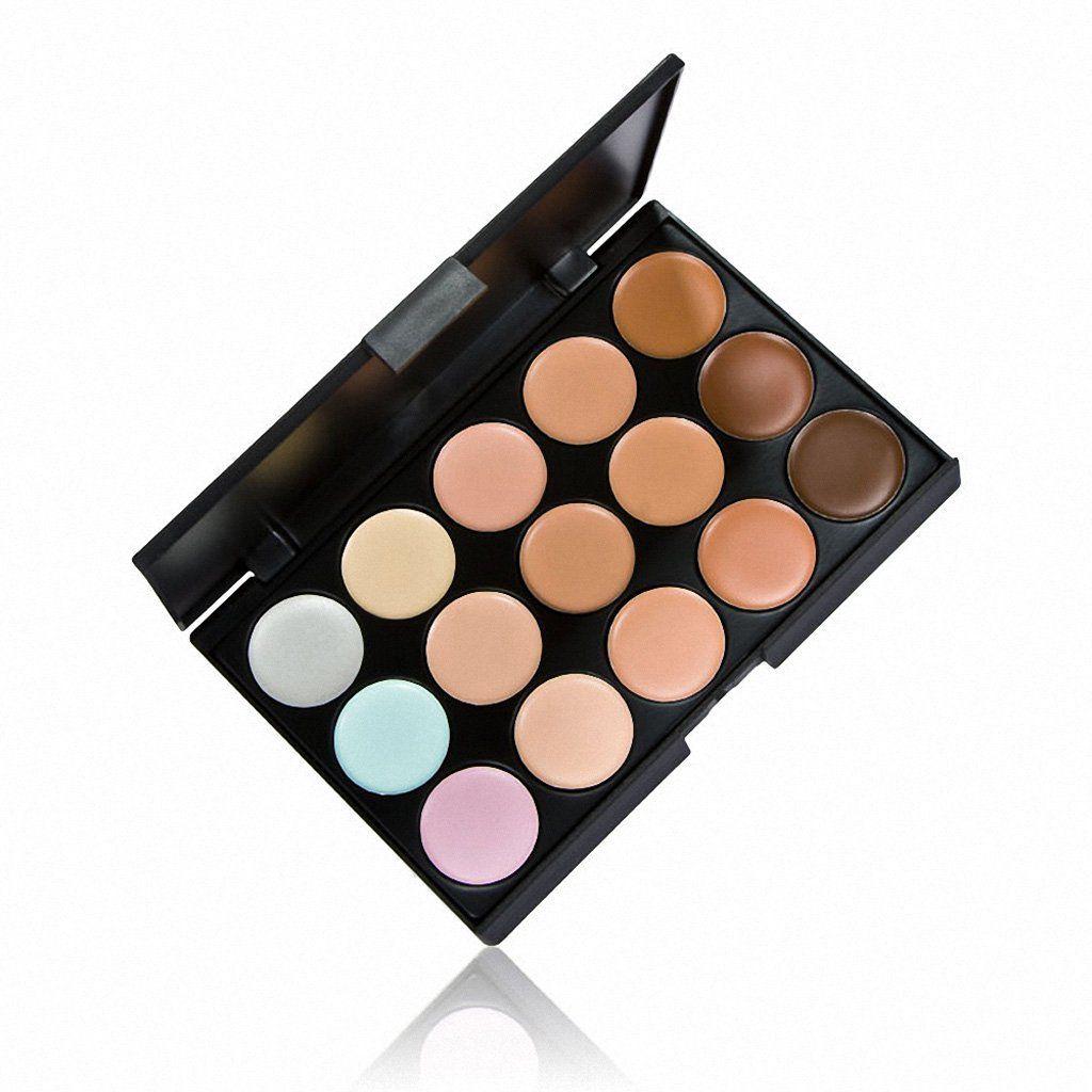 ... Generic 15 Colors Contour & Concealer Palette + Contour Makeup Brush ...