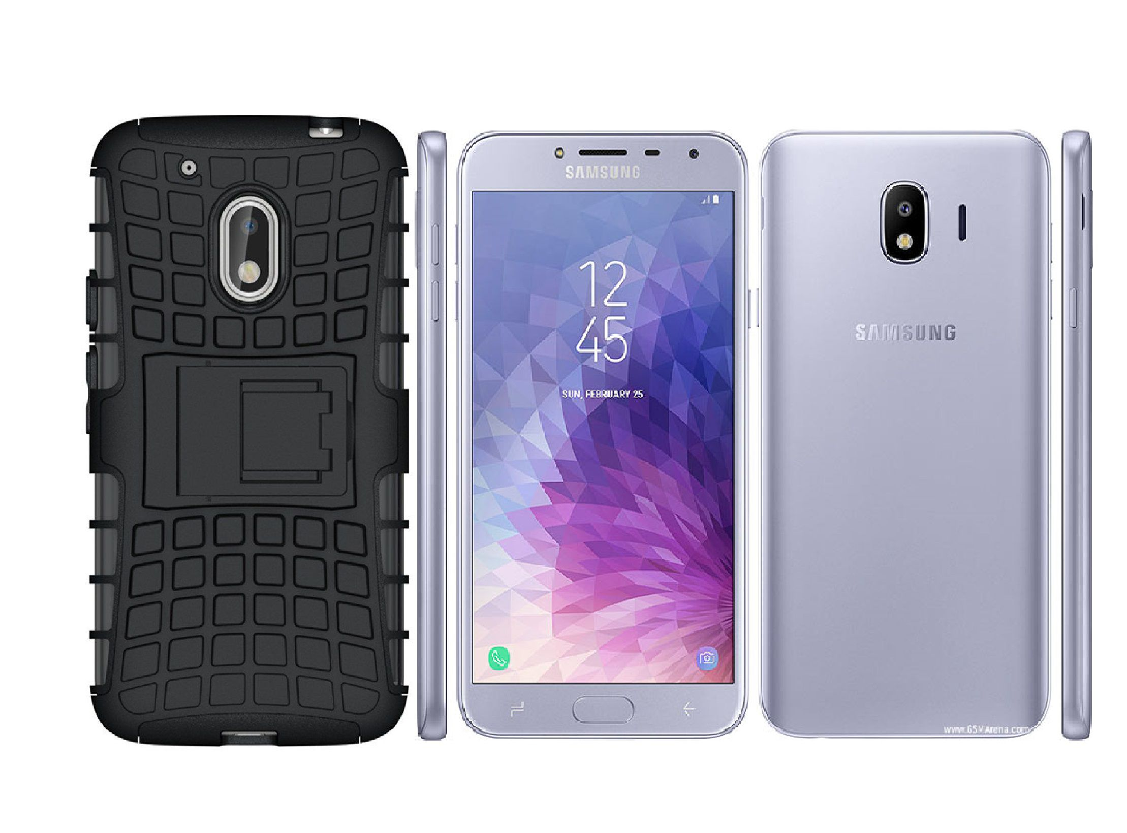 Samsung Galaxy J4 Cases with Stands SpectraDeal Black