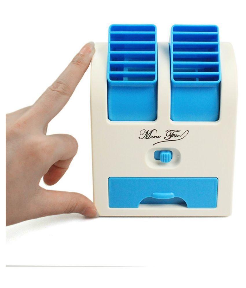Shri Enterprises Mini Portable USB Cooler Fan with 50ml Water Storage for Car Home Laptop   Assorted Color
