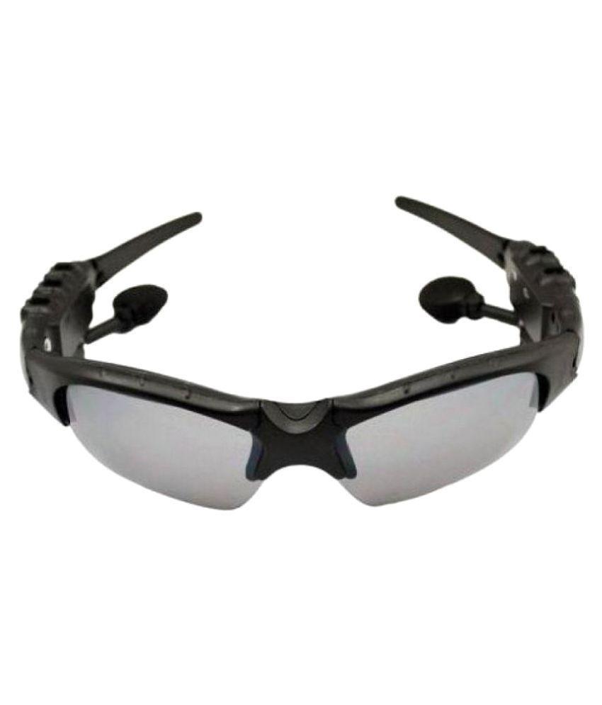 Defloc Grey Wrap Around Sunglasses (  With Bluetooth Connectivity  10014 )