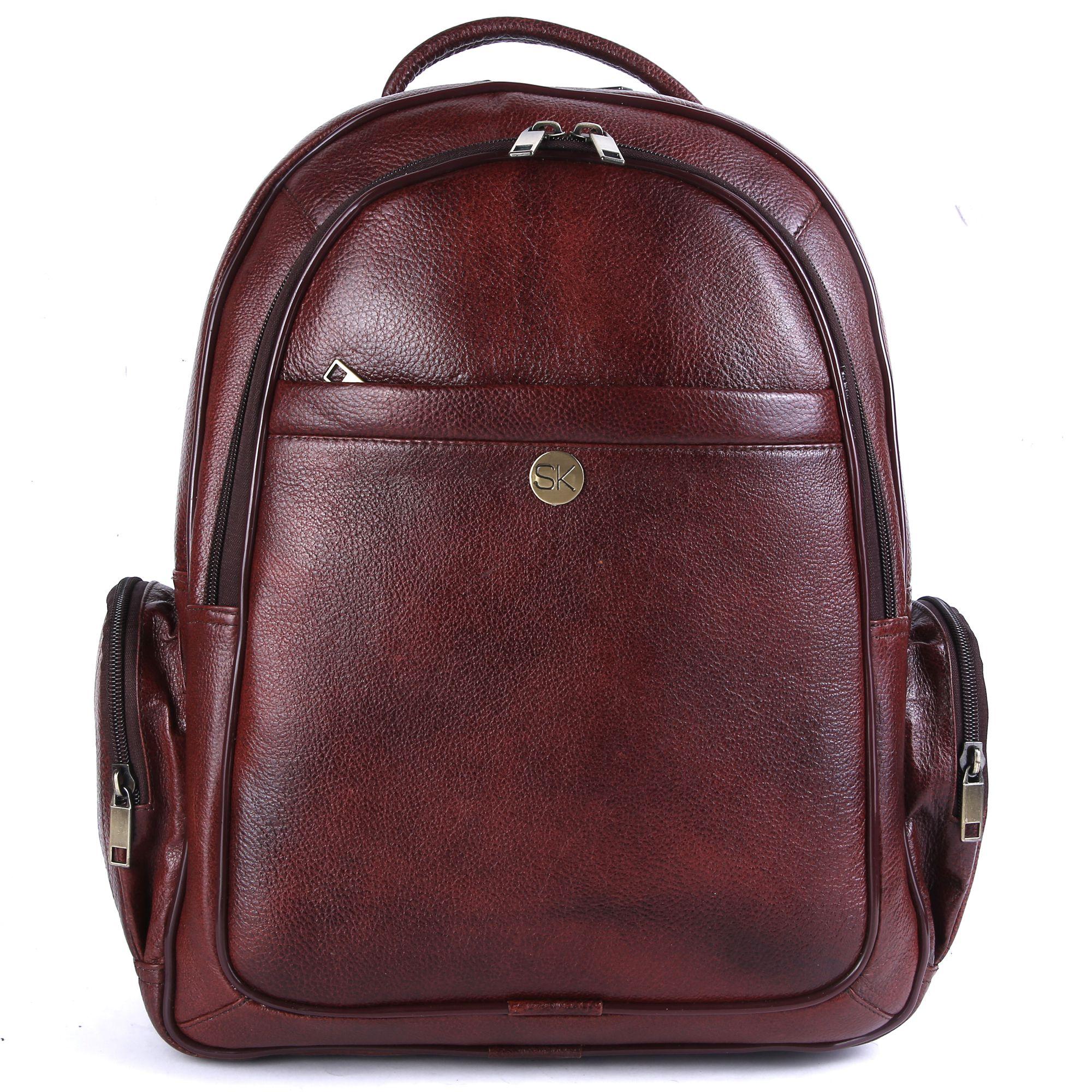 SK TRADER SK-A74.BR Brown Leather Office Bag