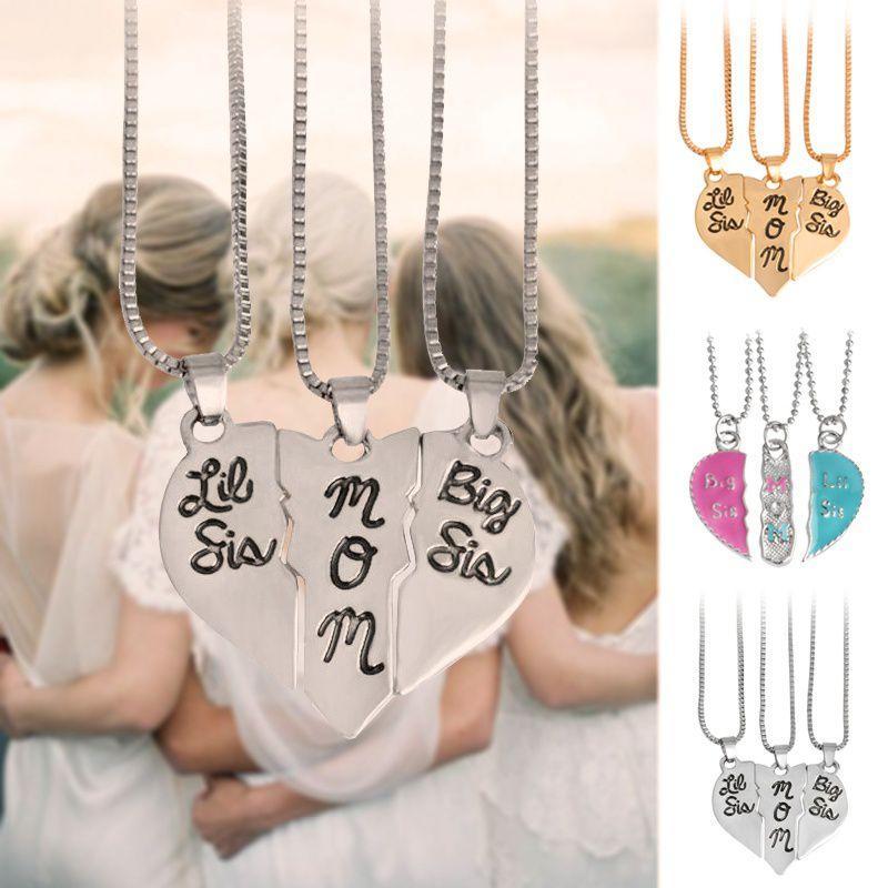 3pcs/set Lettering Necklace