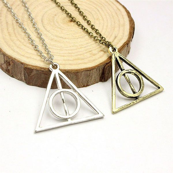 Luna Lovegood Loony Deathly Hallows Triangular Sweater Men Women Necklace