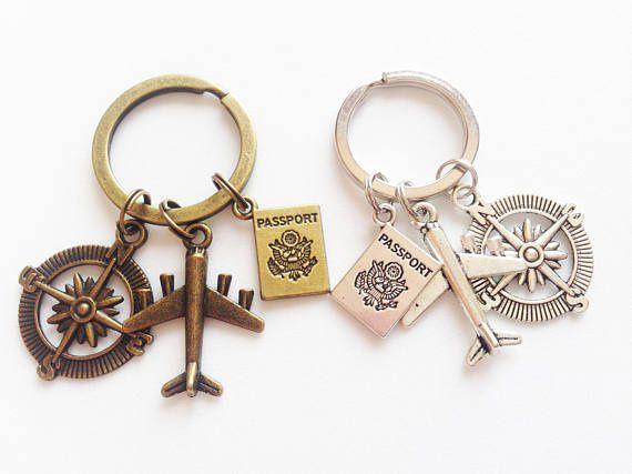 TRAVELER Keychain Traveler Keyring Traveler Gift Geography Keychain Explorer Keychain Wanderlust Keychain Wanderlust Gift Traveler Gift