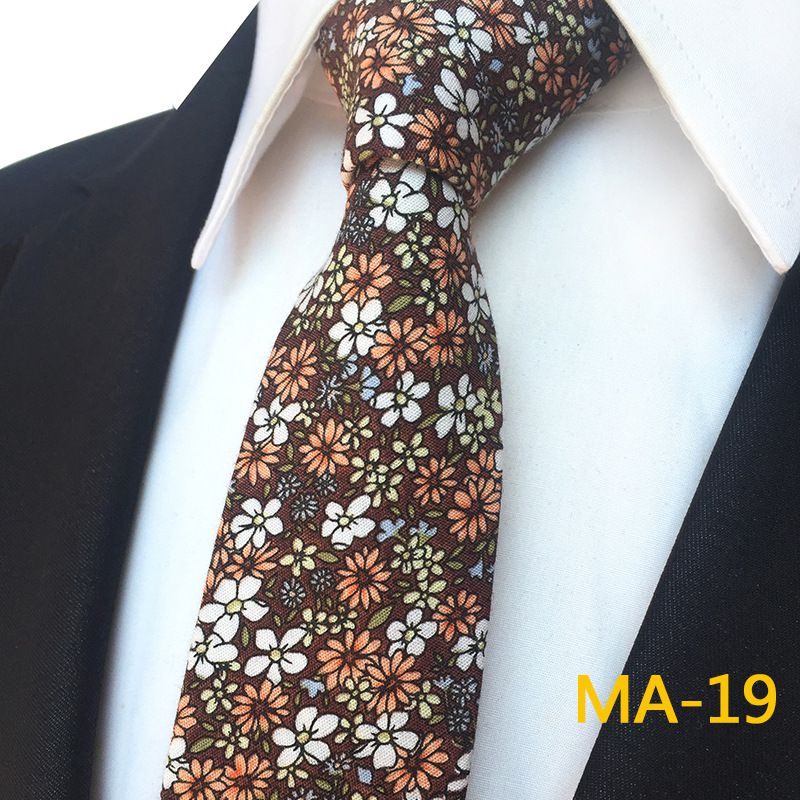 Duomu Multi Floral Polyester Necktie
