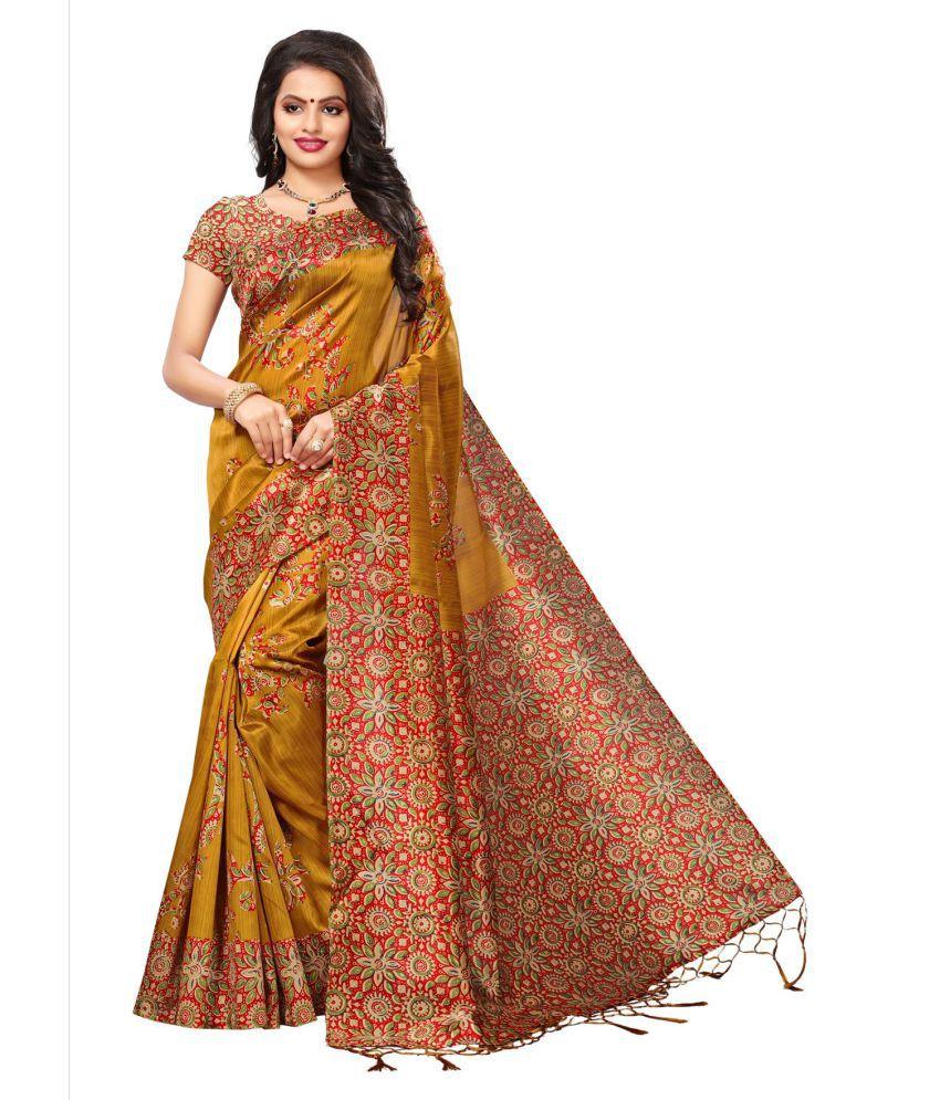 Indian Fashionista Brown and Beige Tussar Silk Saree