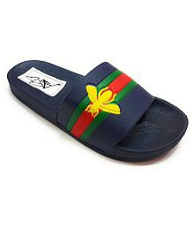 Pampys Angel FelisLee Black Slide Flip flop