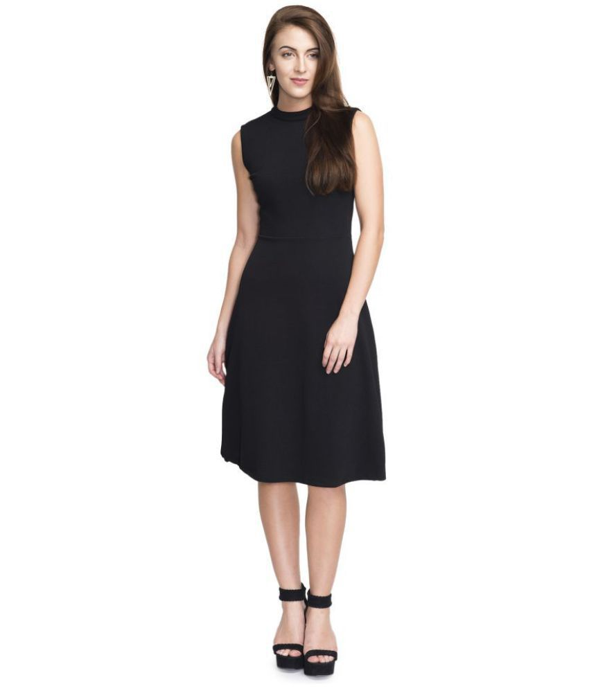Addyvero Cotton Black Dresses