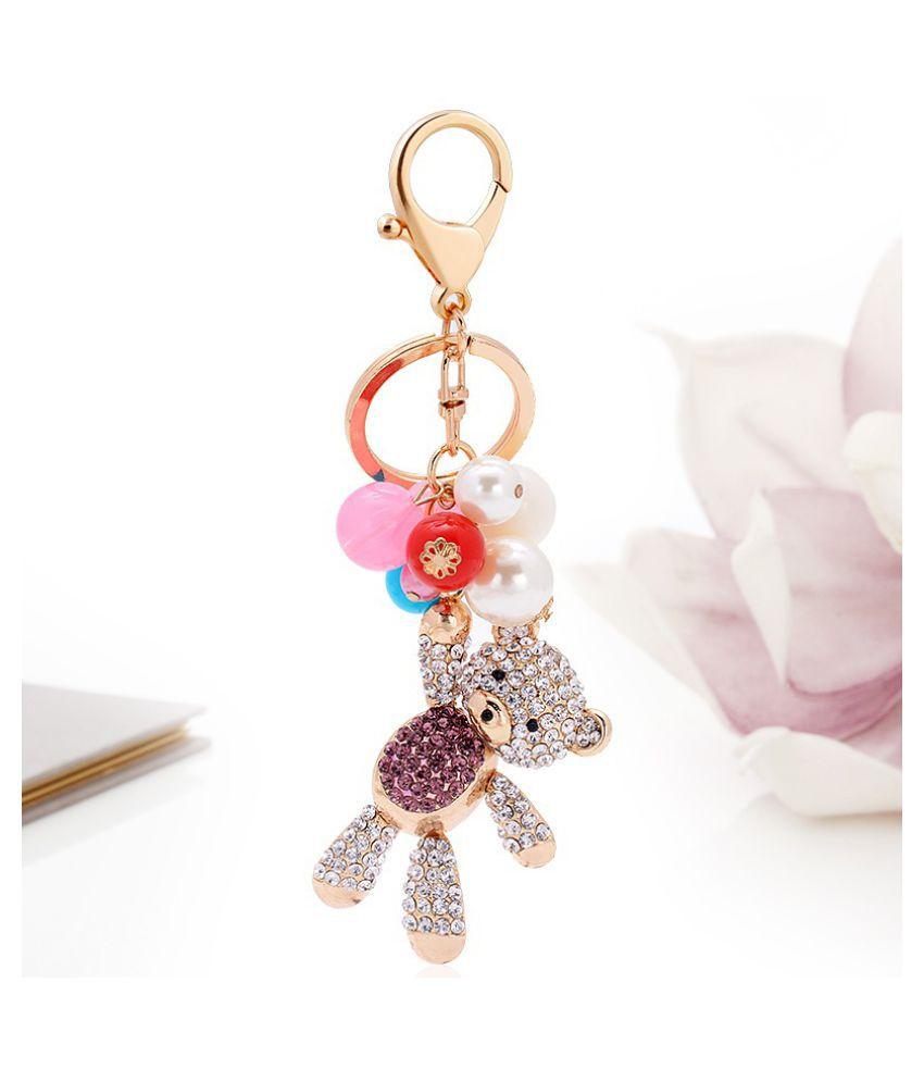 Balloon Bear Fashion Metal Keychain Chain Agency Car Key Bag Buckle