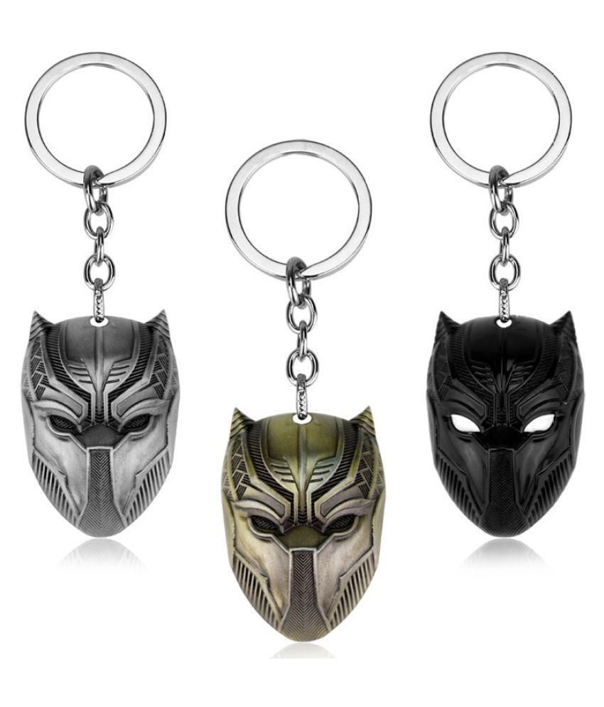 Marvel Black Panther Mask Alloy Key Chains Keychain Keyfob Keyring Present Gift