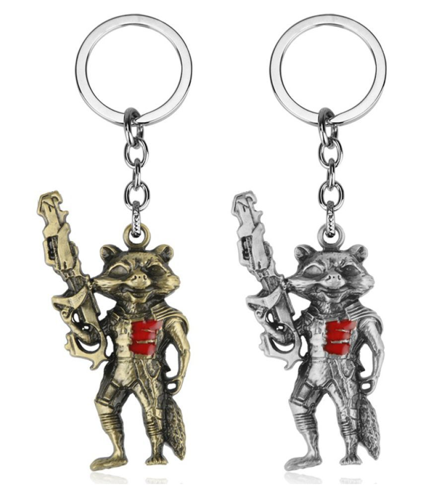 Movie GOTG Guardians of the Galaxy Rocket Raccoon Groot Pendent Keychain Key Chain Key Ring Chaveiro Cute Unisex Jewelry