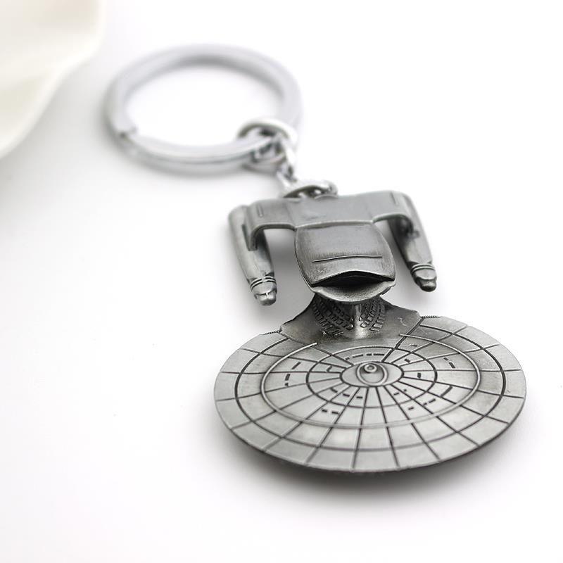 Star Trek Spacecraft U.S.S. Enterprise Air Plane Charm Keychain Key Ring Pendant Film Collection