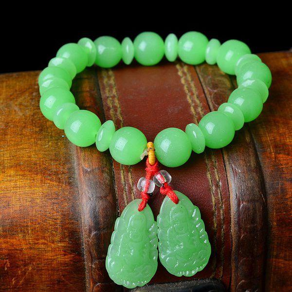 Wholesale natural jade bracelet jade jade jade jade Guanyin blockbuster bracelet bracelet