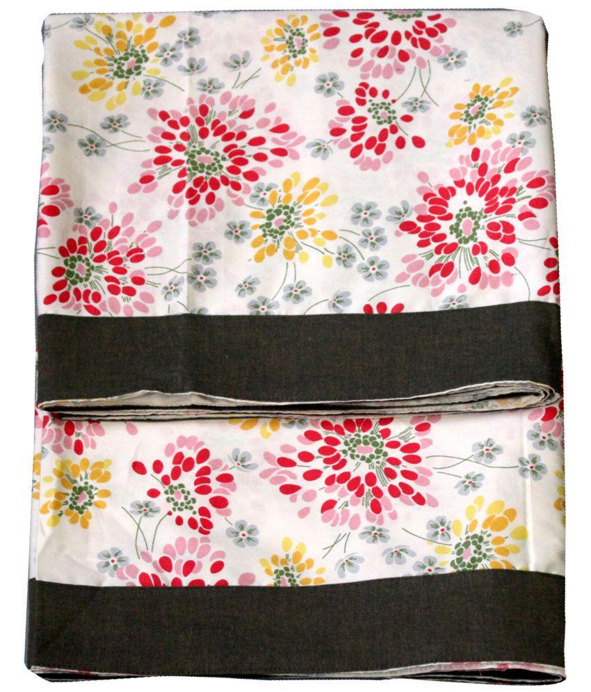 Elan Dreams Single Cotton Multi Floral Top Sheet Set of 2